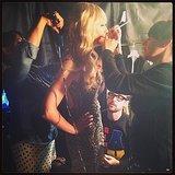 Brad Goreski shared a picture of Beth Behrs getting ready backstage. Source: Instagram user mrbradgoreski