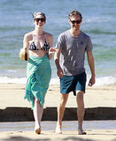 Anne Hathaway Accessorizes Her Bikini With a Bandage