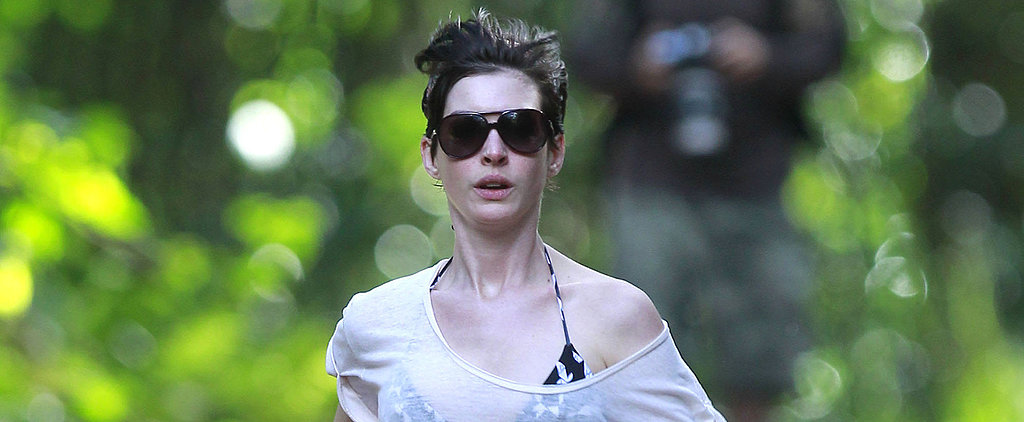 Anne Hathaway Goes Jogging in a Bikini, Because She Can