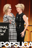 Meryl and Emma shared a sweet look onstage.