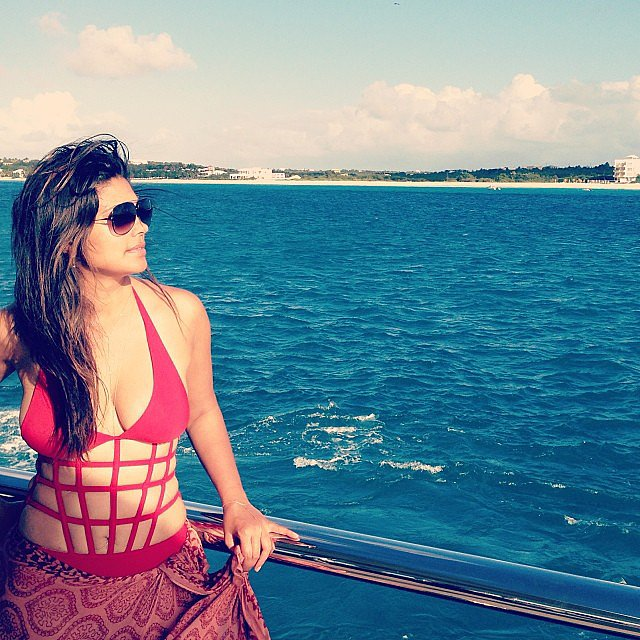 Designer Rachel Roy shared a gorgeous vacation photo — check out that sexy swimsuit! Source: Instagram user rachel_roy