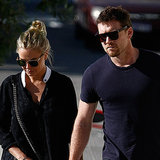 Lara Bingle and Sam Worthington in Perth Pictures