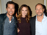 Matthew McConaughey posed with Michelle Monaghan and Woody Harrelson in LA at the 2014 Winter press tour for the Television Critics Association.
