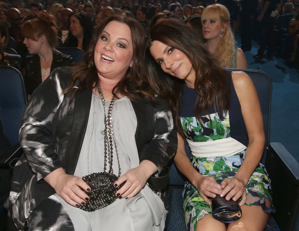Pals Sandra Bullock and Melissa McCarthy got seats next to each other.