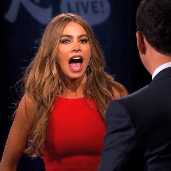 Sofia Vergara Slaps Jimmy Kimmel on TV