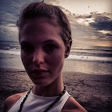 Erin Heatherton soaked up the last rays at sunset. Source: Instagram user erinheathertonlegit