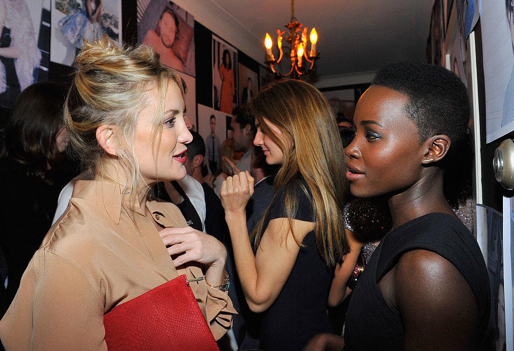 Kate Hudson chatted with Lupita Nyong'o.