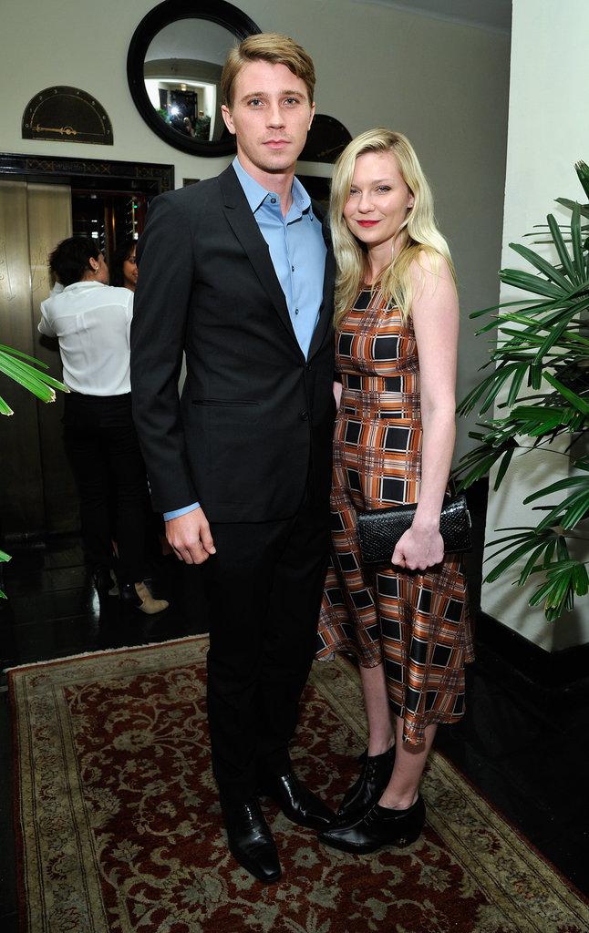 Kirsten Dunst and Garrett Hedlund arrived together on Thursday at W magazine's pre-Golden Globes bash.