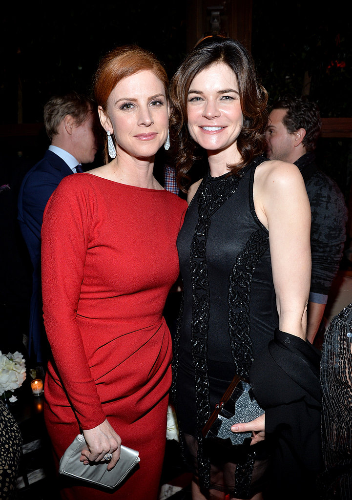 Suits star Sarah Rafferty and Betsy Brandt posed.