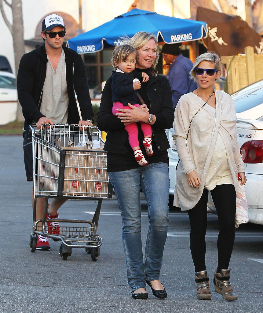 Chris Hemsworth and Elsa Pataky went shopping with their daughter, India, in LA on Thursday.