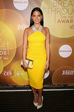 Olivia Munn went for a yellow look when she attended the 2014 Variety Breakthrough of the Year Awards in LA on Thursday.