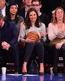 Katie Holmes attended a Knicks game in NYC on Thursday.