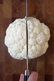 Halve the Head of Cauliflower