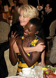 Emma Thompson gave 12 Years a Slave's Lupita Nyong'o a huge hug.