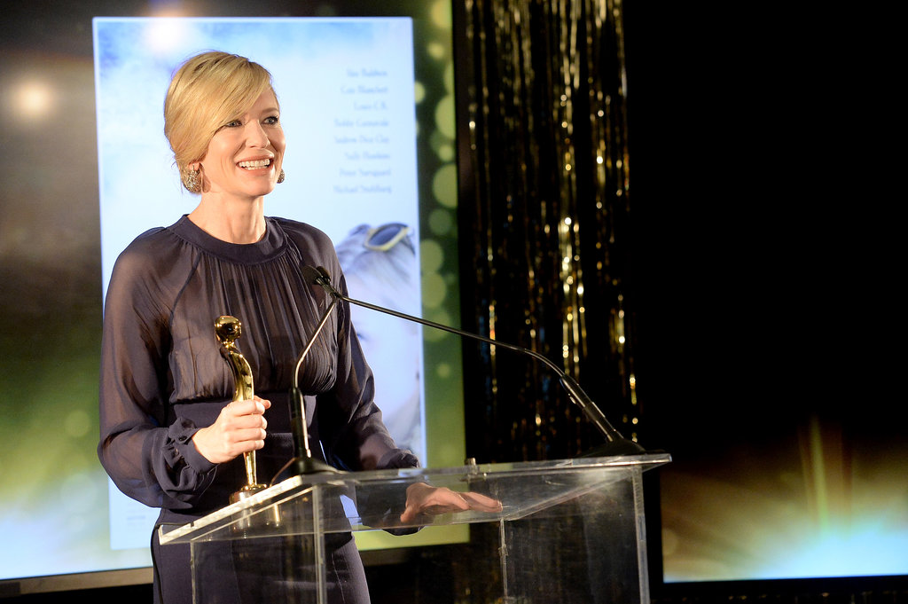 Cate Blanchett accepted her award for best actress.
