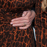 Robin wore her new engagement ring on the red carpet.