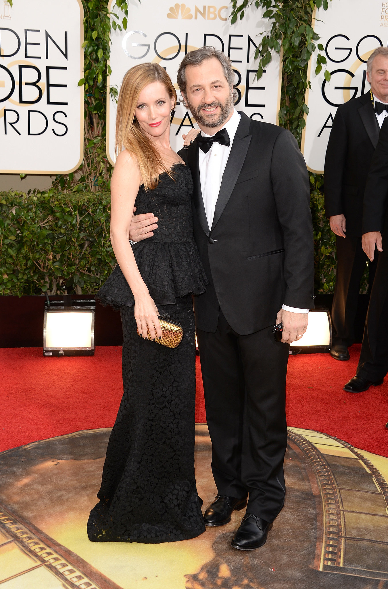 Leslie Mann and Judd Apatow coupled up at the Golden Globes.