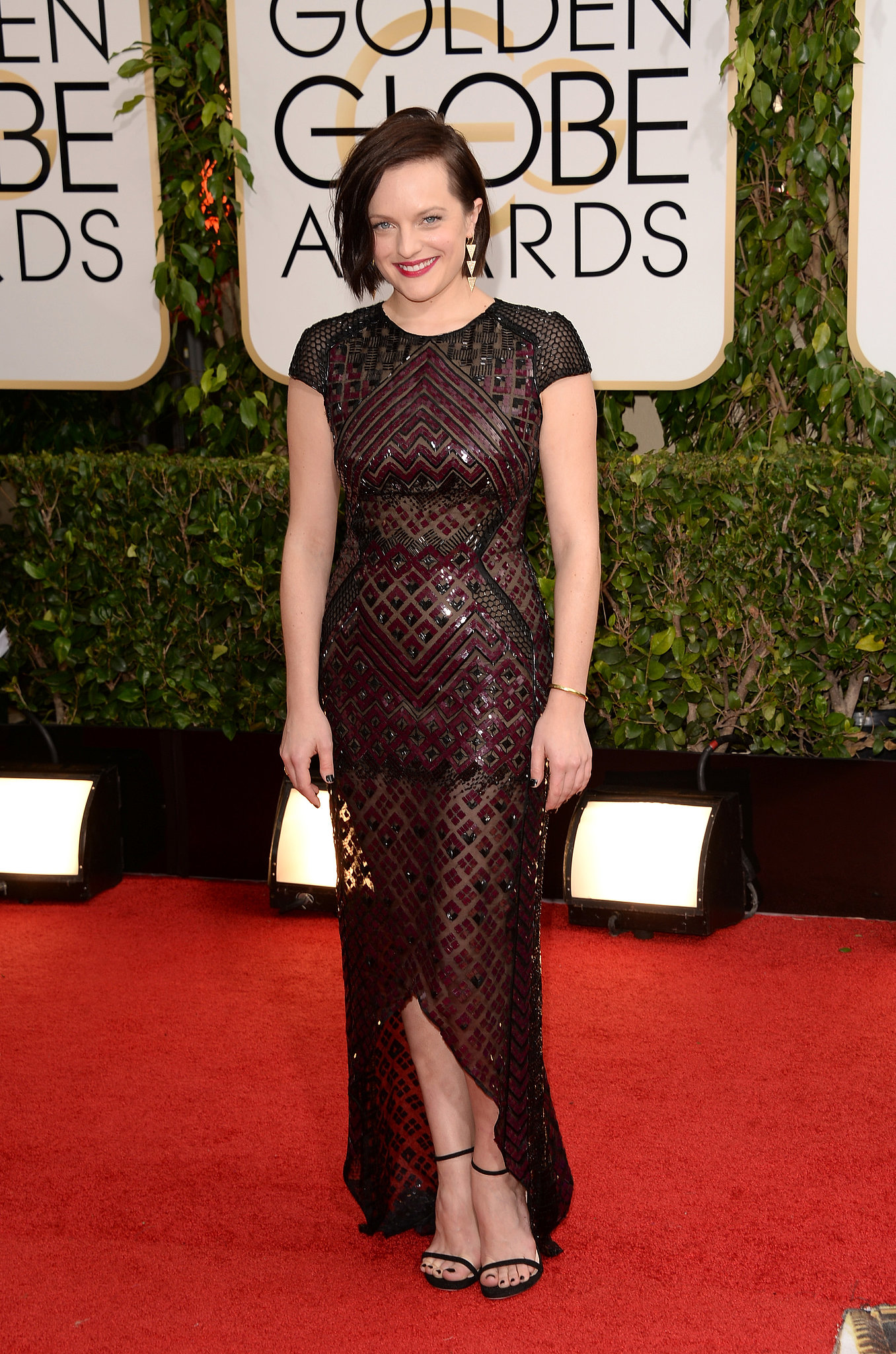 Mad Men's Elisabeth Moss showed up on the red carpet.