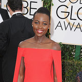 Lupita Nyong'o Hair and Makeup at Golden Globes 2014