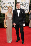 Naomi Watts and Liev Schrieber held hands as they arrived at the Golden Globes.