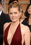 Double plaits and a hint of shimmering shadow made Amy Adams a standout on the red carpet.