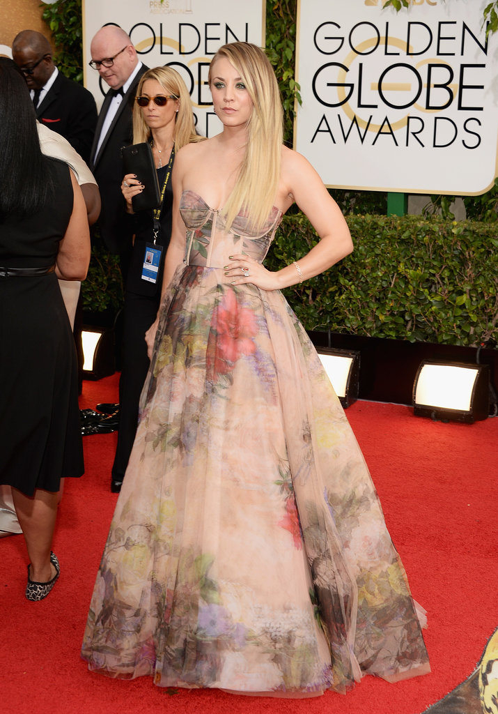 Kaley Cuoco at the Golden Globes 2014