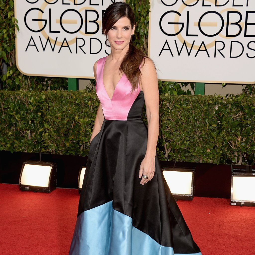 Sandra Bullock Dress on Golden Globes 2014 Red Carpet