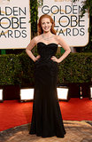 Jessica Chastain at the Golden Globes 2014