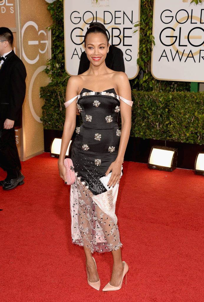 Zoe Saldana at the Golden Globes 2014