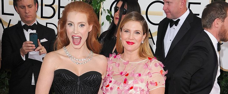 Jessica Chastain Puts All Eyes on Pregnant Drew