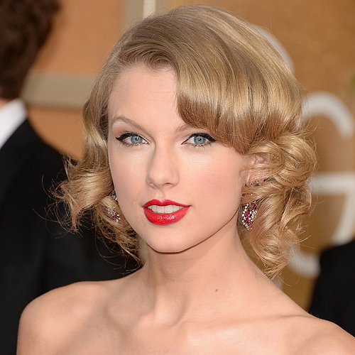Taylor Swift Hair and Makeup at Golden Globes 2014