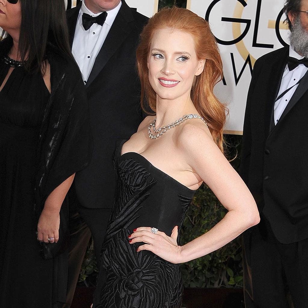 Jessica Chastain Dress on Golden Globes 2014 Red Carpet