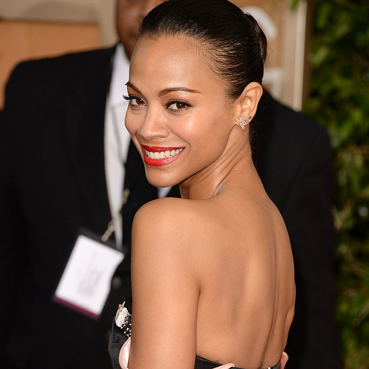 Zoe Saldana Dress on Golden Globes 2014 Red Carpet
