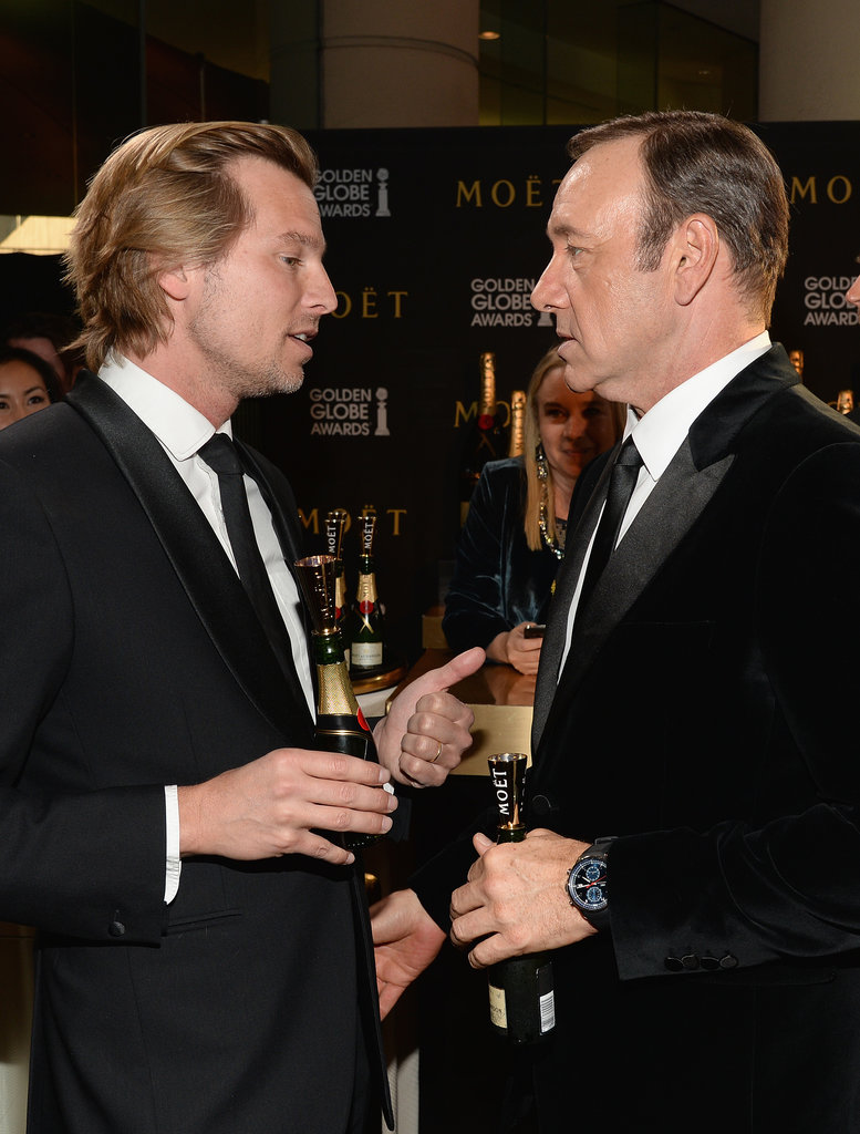 Kevin Spacey Even Grabbed a Bottle With Moet & Chandon's Vice President, Ludovic du Plessis