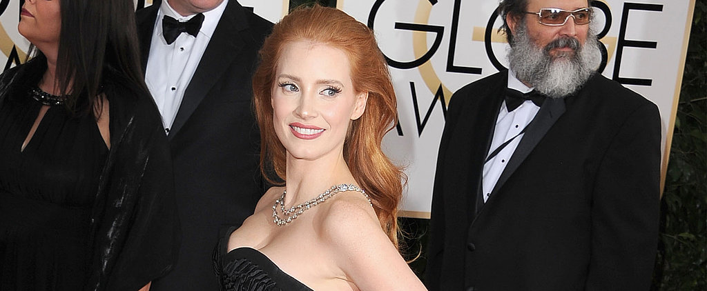 Vote: Jessica Chastain Pumps Up the Volume on Her Signature Look