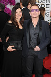 Bono and his wife, Alison, posed for pictures on the red carpet.
