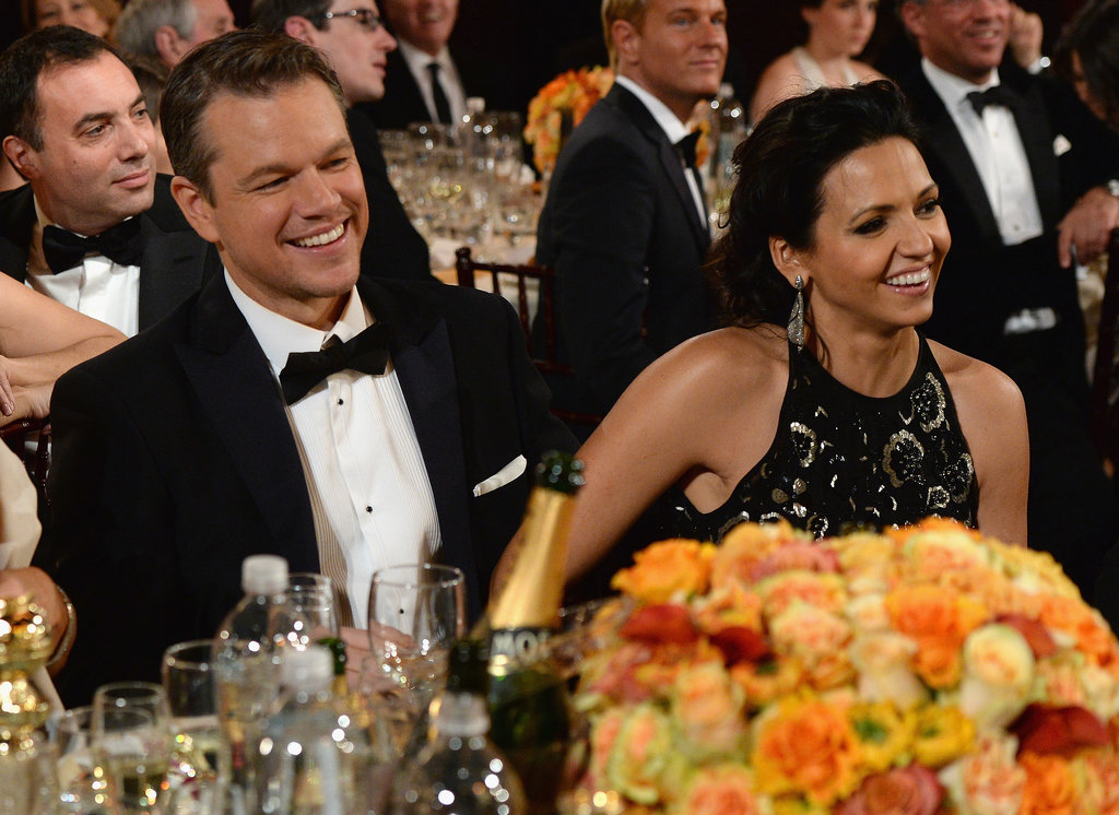 Matt and Luciana Damon got adorable in the audience.  Source: Larry Busacca/NBC/NBCU Photo Bank/NBC