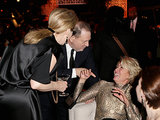 Emma Thompson hammed it up with Harvey Weinstein and Meryl Streep.