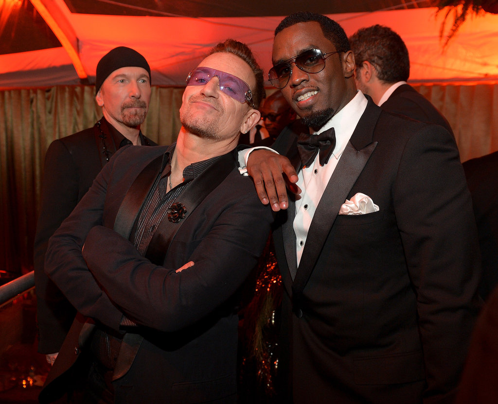 Diddy and Bono got together for a shot.