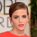 Emma Watson's Hair and Makeup at Golden Globes 2014