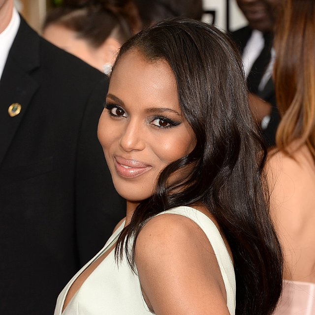 Kerry Washington's Hair and Makeup at Golden Globes 2014