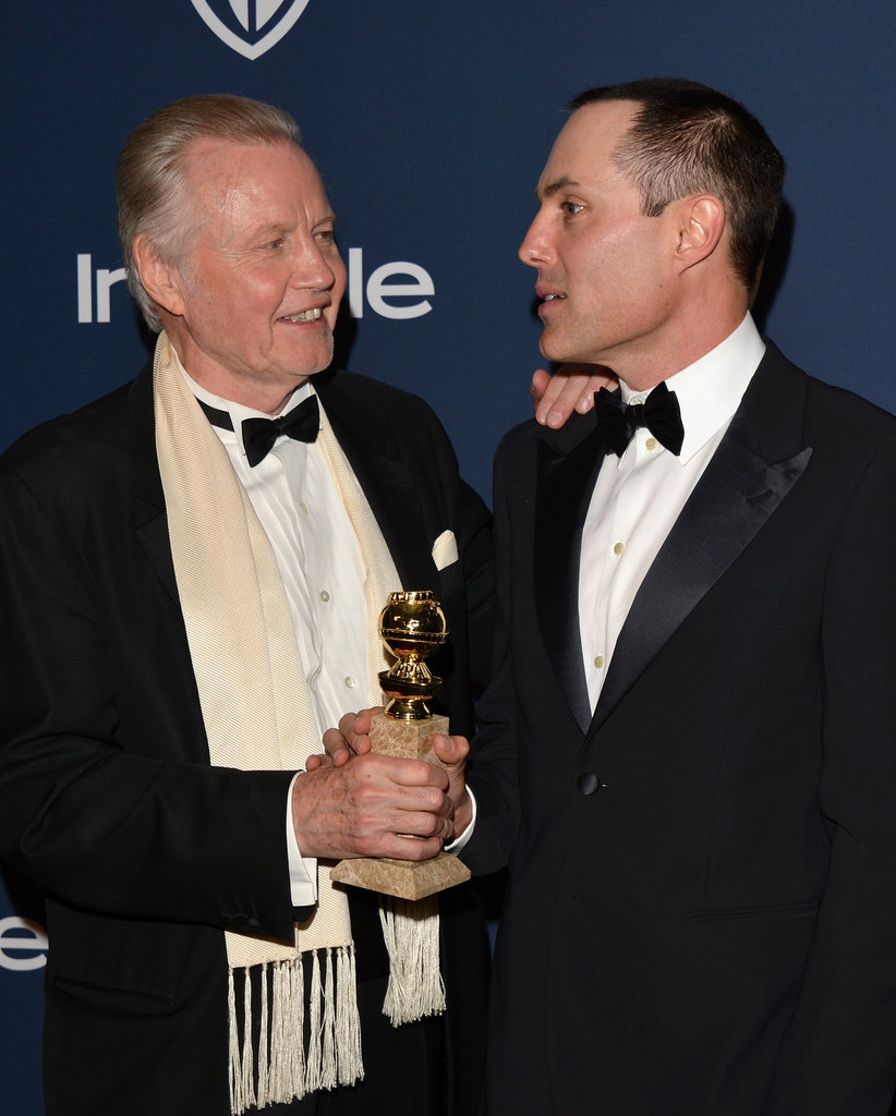 Jon Voight and his son, James Haven, showed up together to celebrate.