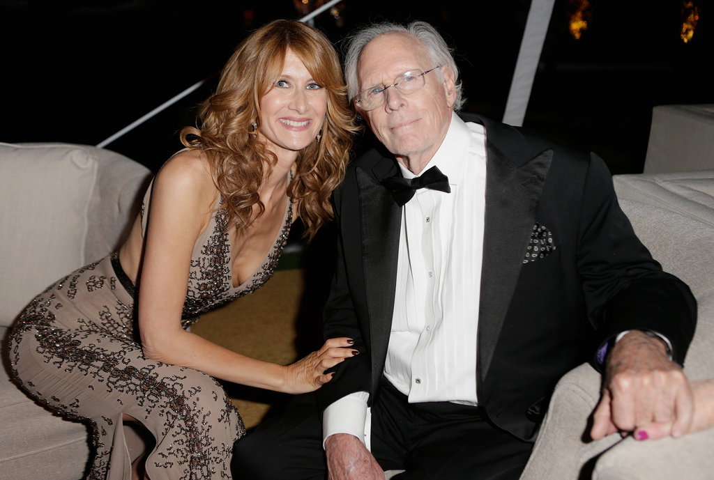 Laura Dern and her dad, Bruce, hung out inside.