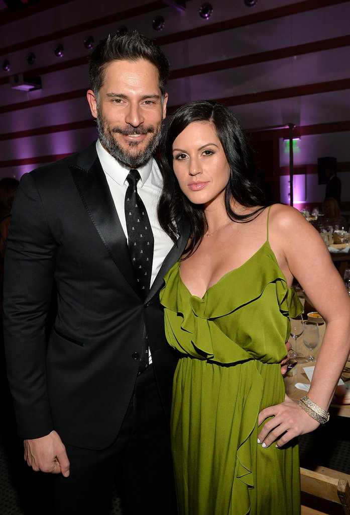 Joe Manganiello and Bridget Peters made a good-looking pair. On the carpet, Joe said the skull-print tie he wore was a Christmas gift from her.