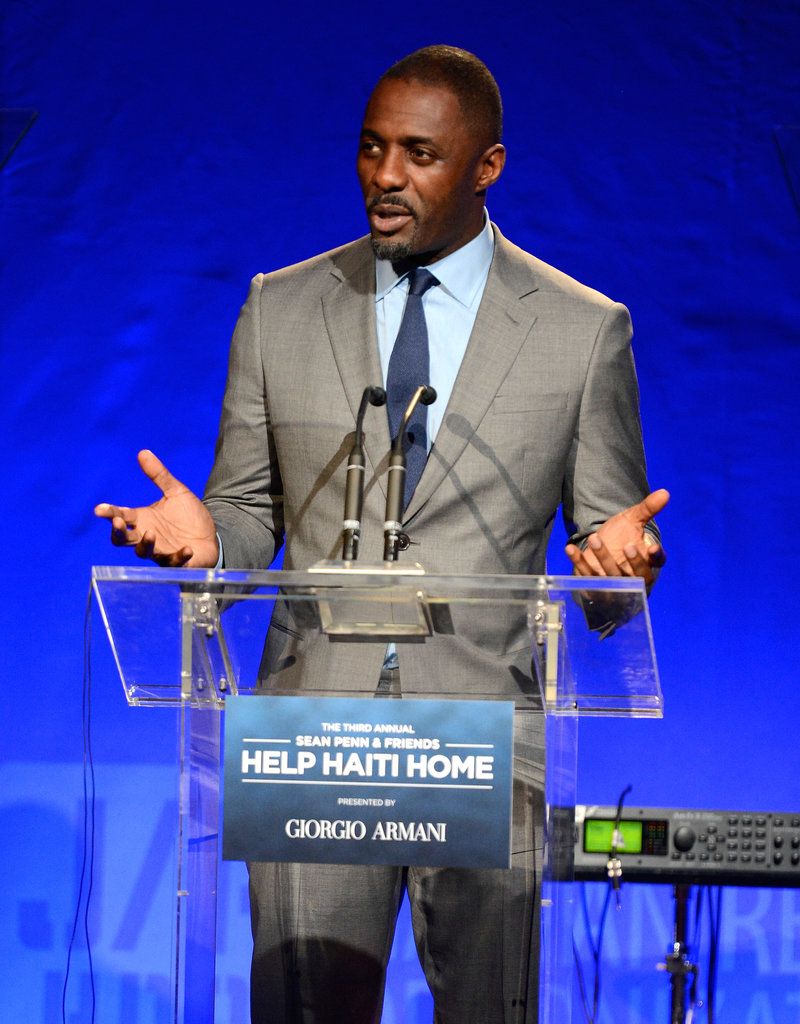 Idris Elba took the podium during the event.