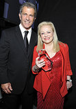 Mel Gibson posed with Jacki Weaver and her award.