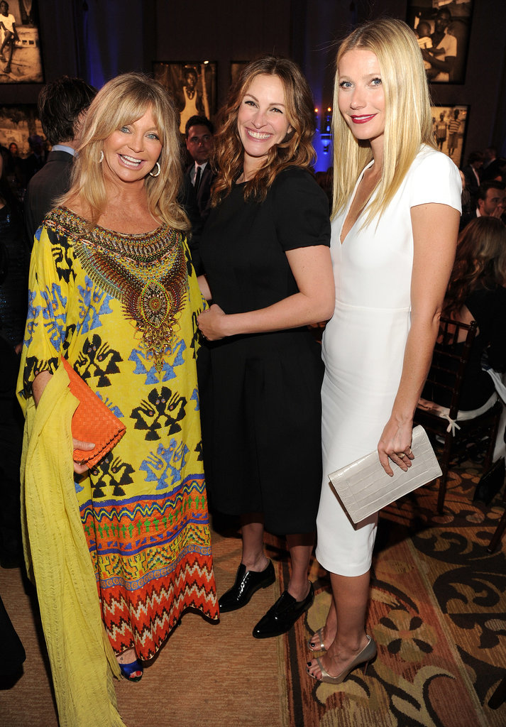 Goldie Hawn, Julia Roberts, and Gwyneth Paltrow at the Help Haiti Gala