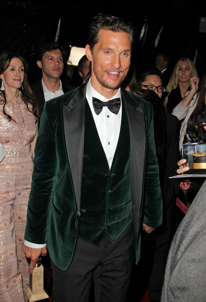Matthew McConaughey arrived at the party.