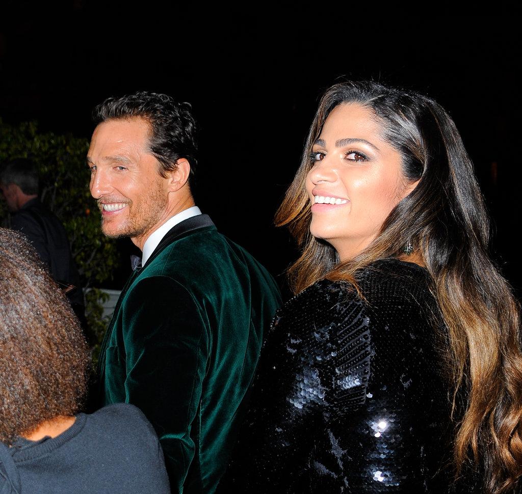 Matthew McConaughey and Camila Alves were all smiles.