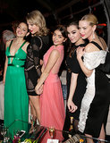 Ladies' night! Odeya Rush, Taylor Swift, Sarah Hyland, Hailee Steinfeld, and Jaime King grouped up at The Weinstein Company's afterparty.